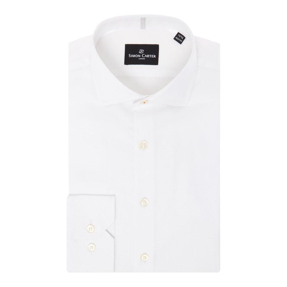 サイモン カーター メンズ トップス シャツ【Triangle Jacquard Shirt】white