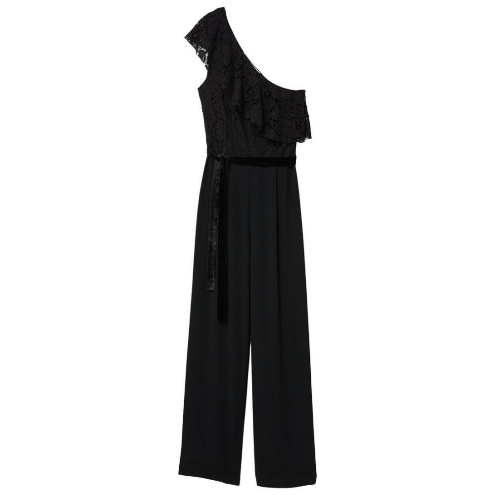マンゴ レディース ワンピース・ドレス オールインワン【Lace V-neckline Jumpsuit】black