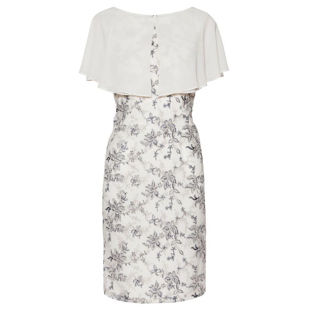 ジーナ バッコーニ レディース ワンピース・ドレス ワンピース【Pollyanna Embroidered Dress With Cape】navy