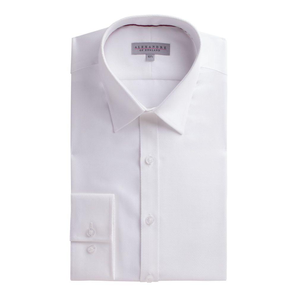 アレクサンダー オブ イングランド メンズ トップス シャツ【White Micro Shirt】white