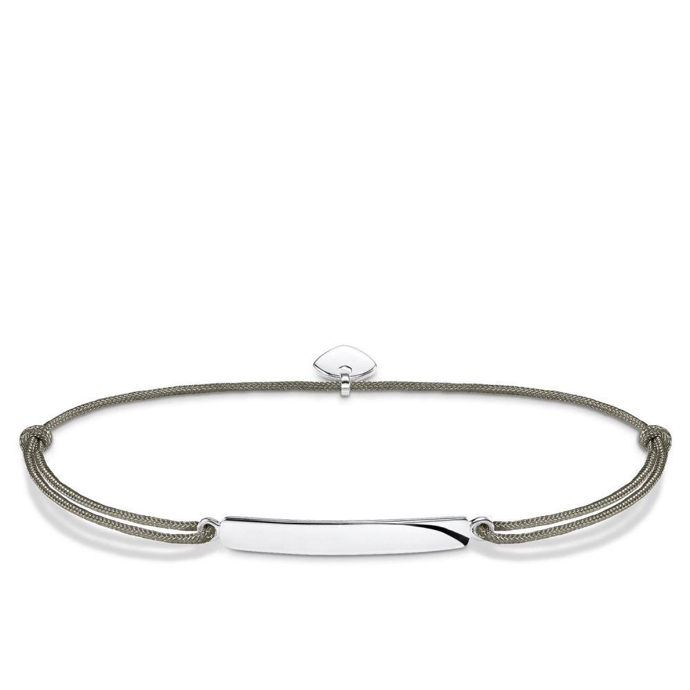 トーマスサボ レディース ジュエリー・アクセサリー ブレスレット【Little Secrets Engravable Bar Bracelet】grey