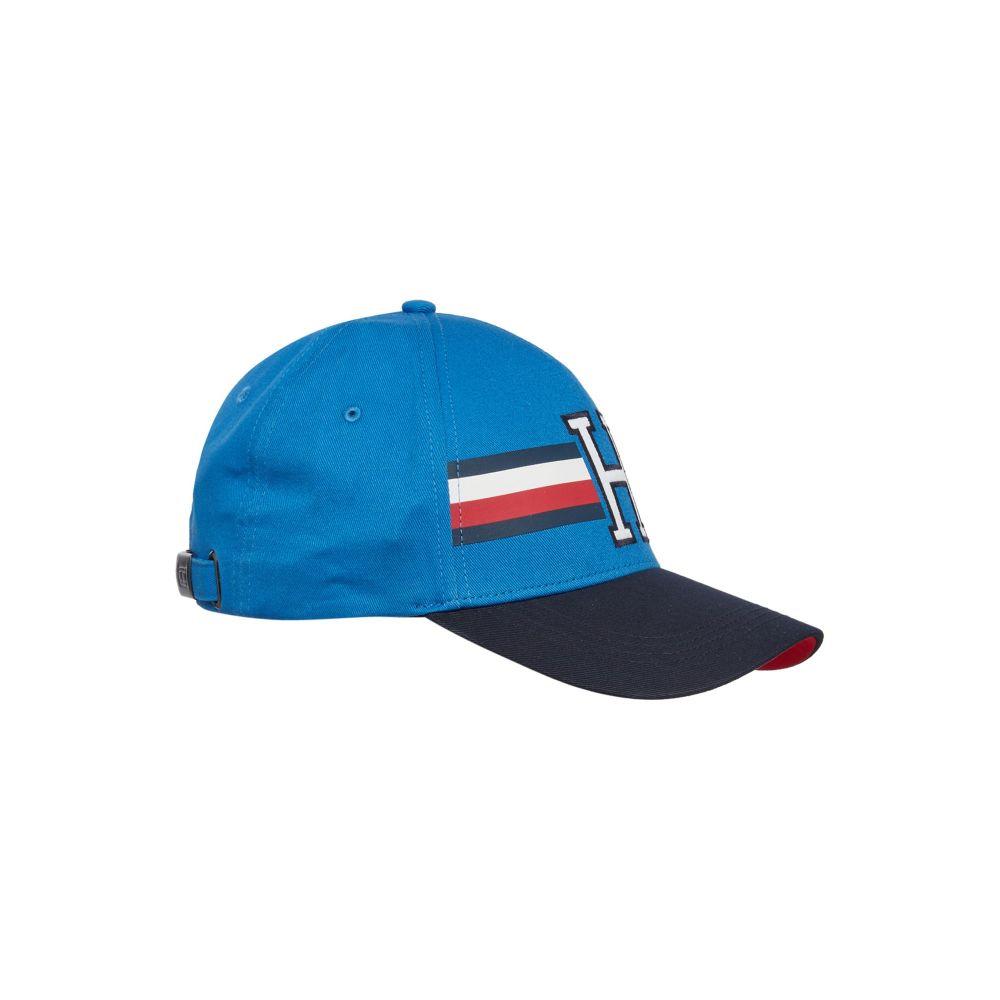 トミー ヒルフィガー メンズ 帽子 キャップ【Stripe Logo Cap】blue