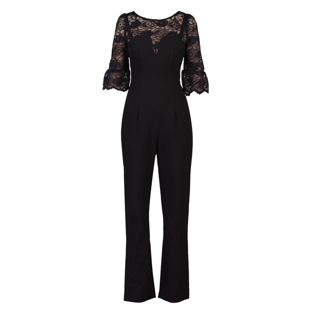 ジョリモリ レディース ワンピース・ドレス オールインワン【Lace Insert Petite Jumpsuit】black