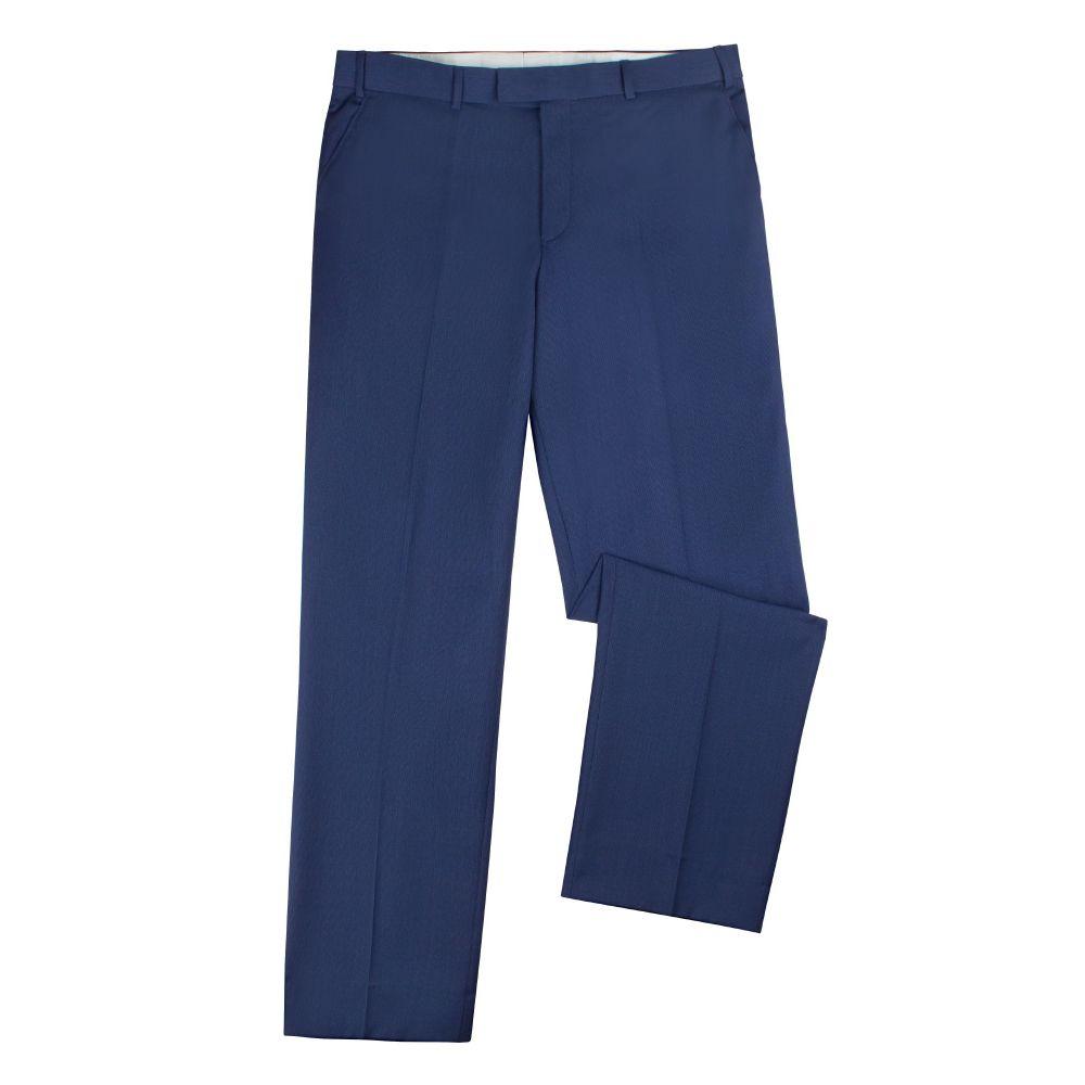 ブリティッシュテイラー メンズ ボトムス・パンツ スラックス【Chadwick Blue Textured Trouser】blue