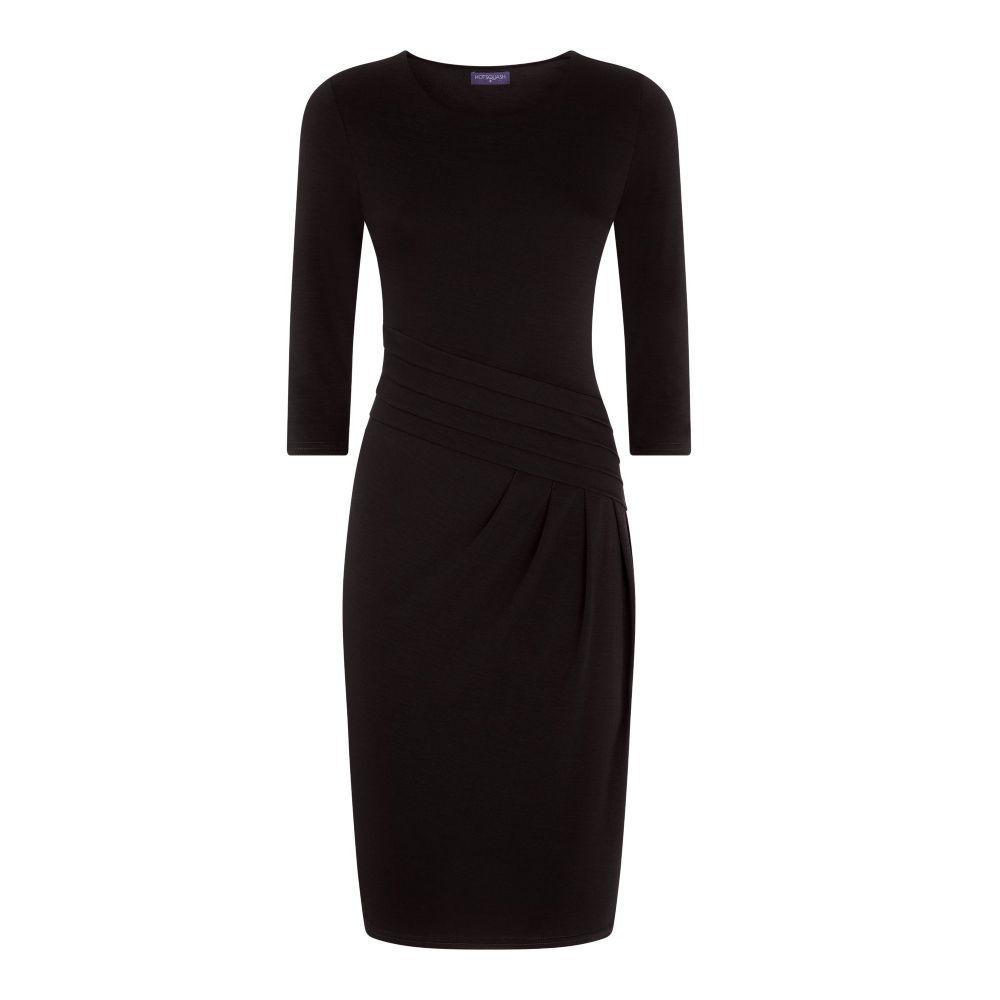 ホットスカッシュ レディース ワンピース・ドレス パーティードレス【Long Sleeved Knee Length Dress】black