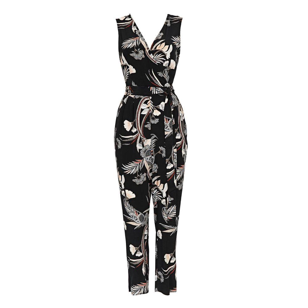 ウォリス レディース ワンピース・ドレス オールインワン【Petite Tribal Floral Jumpsuit】black
