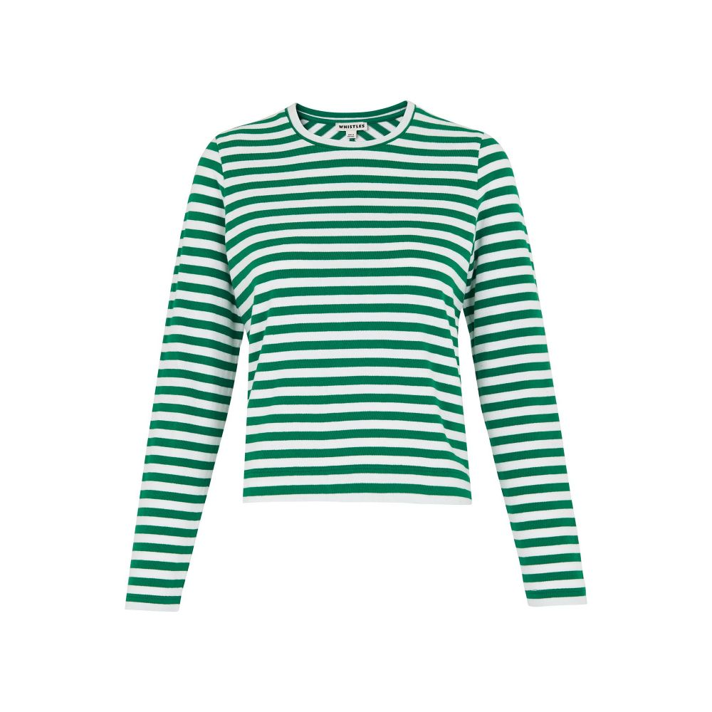 ホイッスルズ レディース トップス【Stripe Chevron Back Top】green