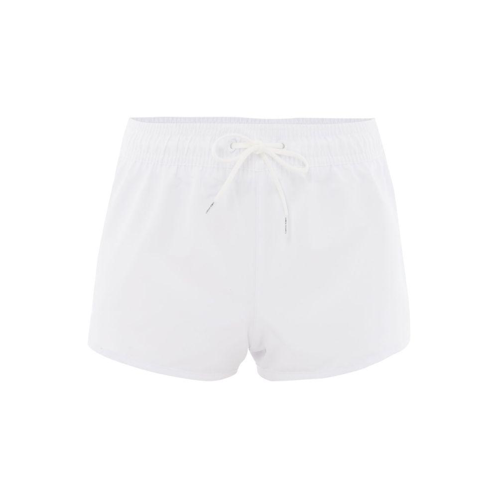 カルバンクライン レディース フィットネス・トレーニング ボトムス・パンツ【Mesh Insert Short】white
