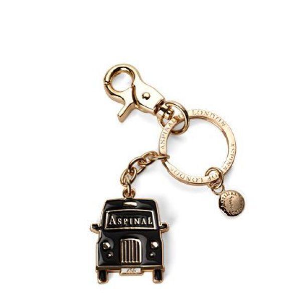 アスピナル オブ ロンドン レディース キーホルダー【London Key Ring Taxi】black