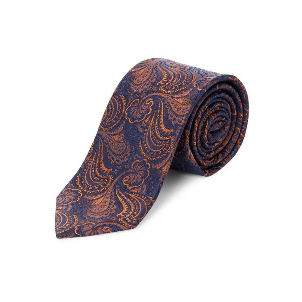 ターナー アンド サンダーソン メンズ ネクタイ【Scouthead Copper Paisley Woven Tie】navy
