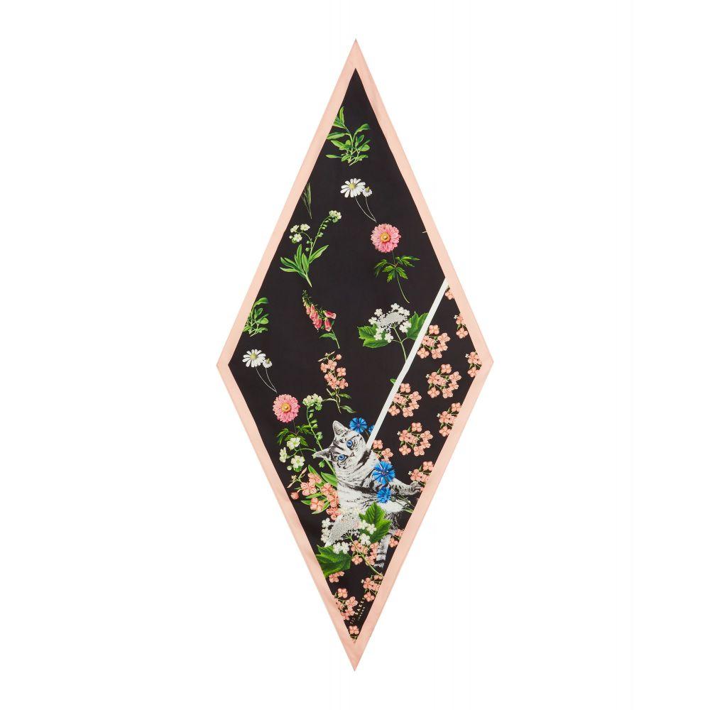 テッドベーカー レディース マフラー・スカーフ・ストール【Tasia Florence Diamond Silk Scarf】black