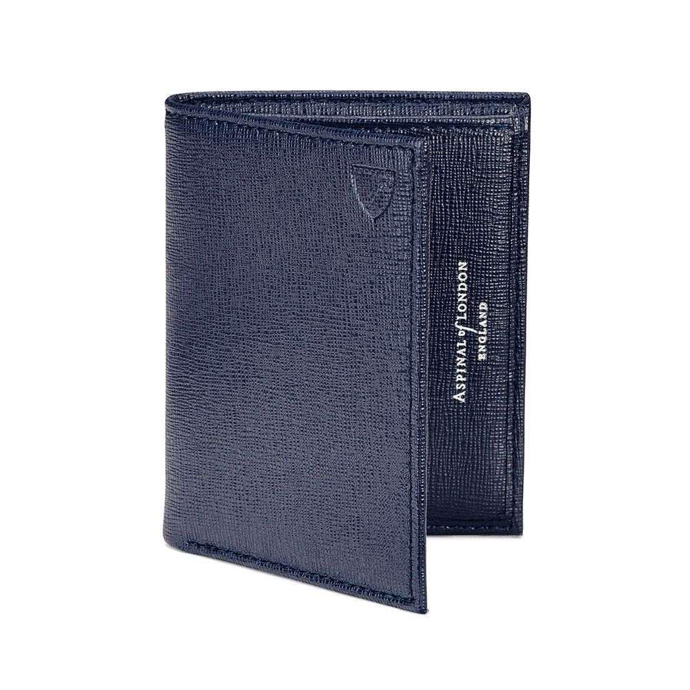 アスピナル オブ ロンドン レディース カードケース・名刺入れ【Double Credit Card Case Pocket】navy