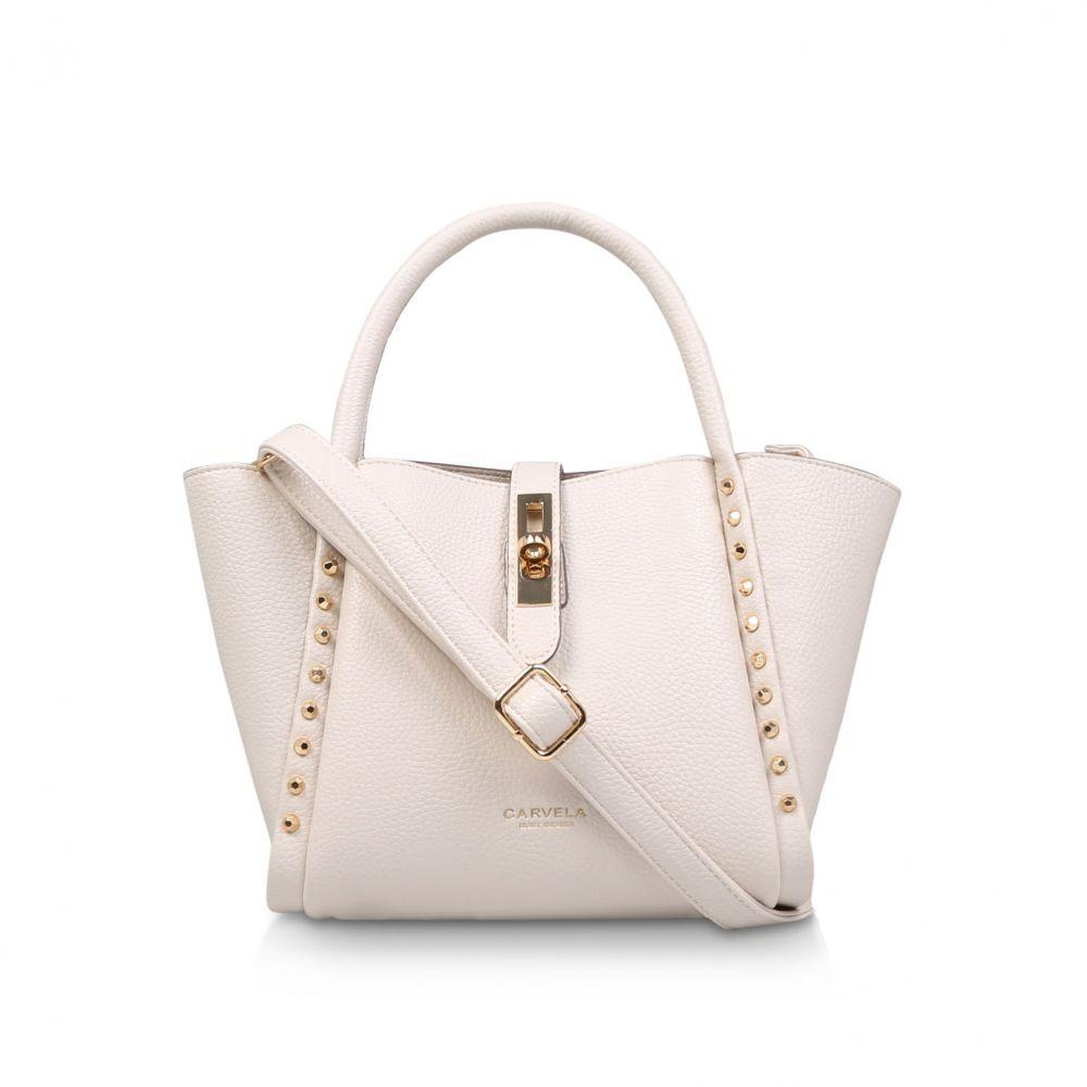 カーベラ レディース バッグ トートバッグ【Sharlie Mini Stud Tote Bag】cream