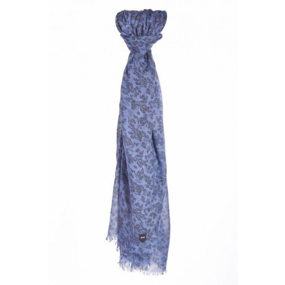 エデン パーク メンズ マフラー・スカーフ・ストール【Floral Scarf】blue