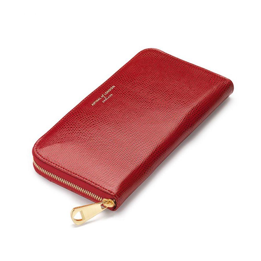アスピナル オブ ロンドン レディース 財布【Continental Clutch Wallet】red