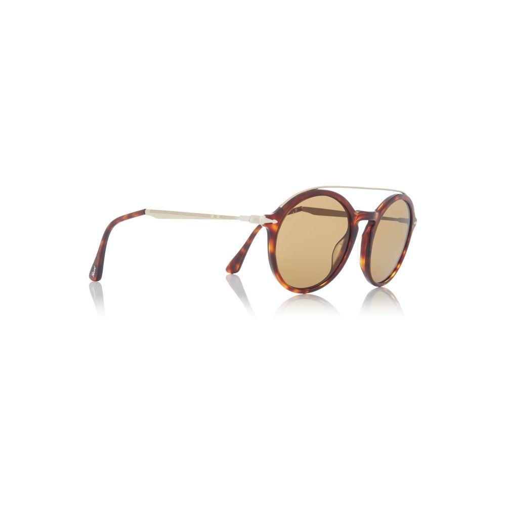 ペルソール メンズ メガネ・サングラス【Havana Po3172s Round Sunglasses】frame colour: havana