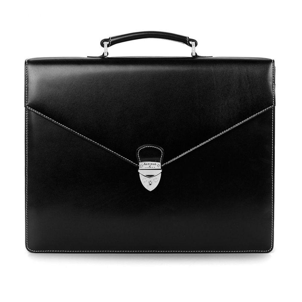 アスピナル オブ ロンドン メンズ バッグ ビジネスバッグ・ブリーフケース【Executive Briefcase】black