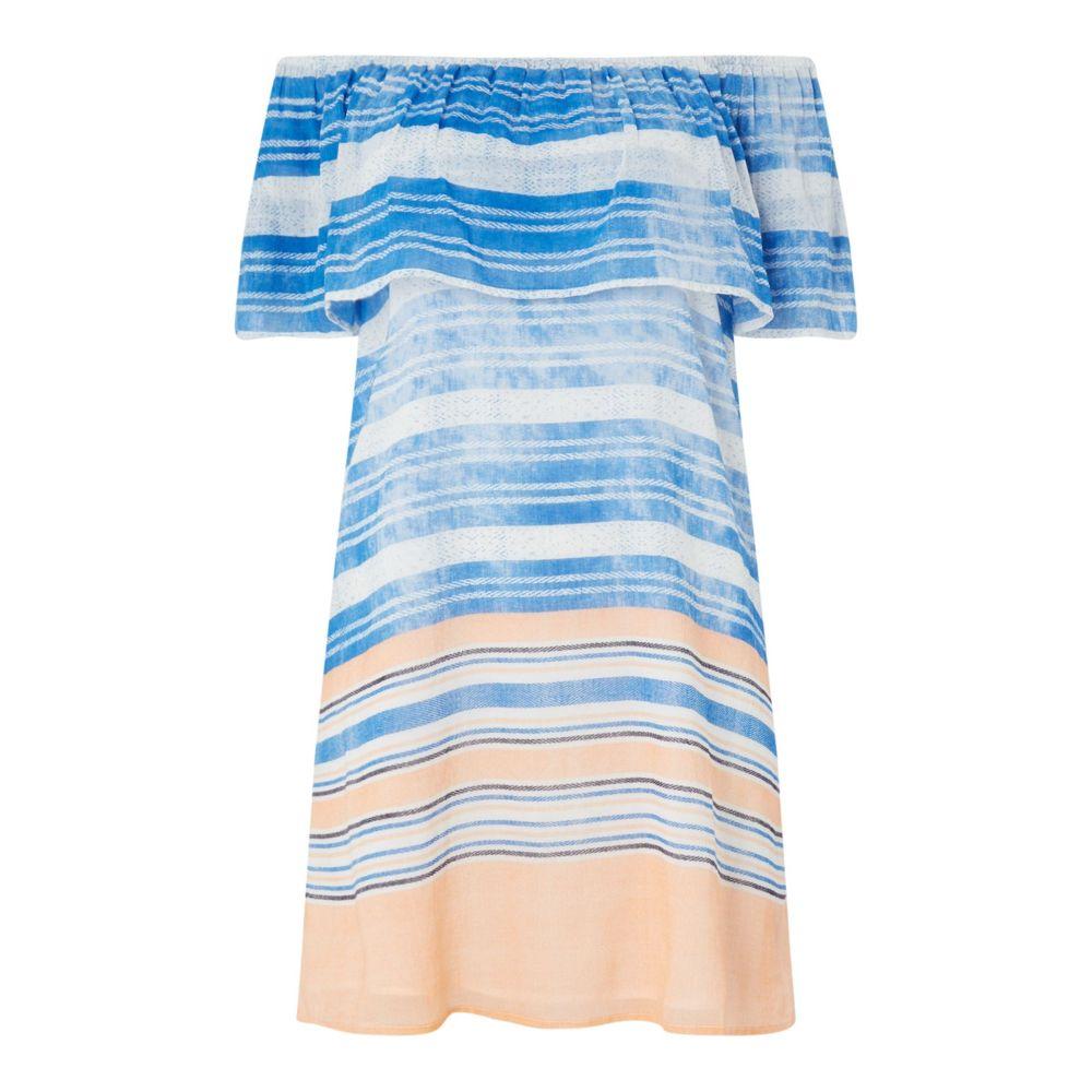 ウォーターカルト レディース 水着・ビーチウェア ビーチウェア【Off Shoulder Dress】blue