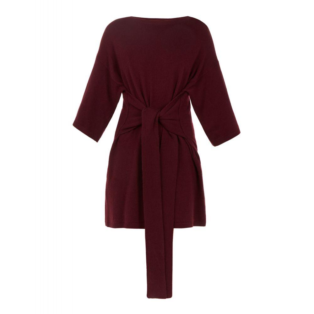 テッドベーカー レディース トップス チュニック【Olympy Tie Front Knitted Tunic】dark red