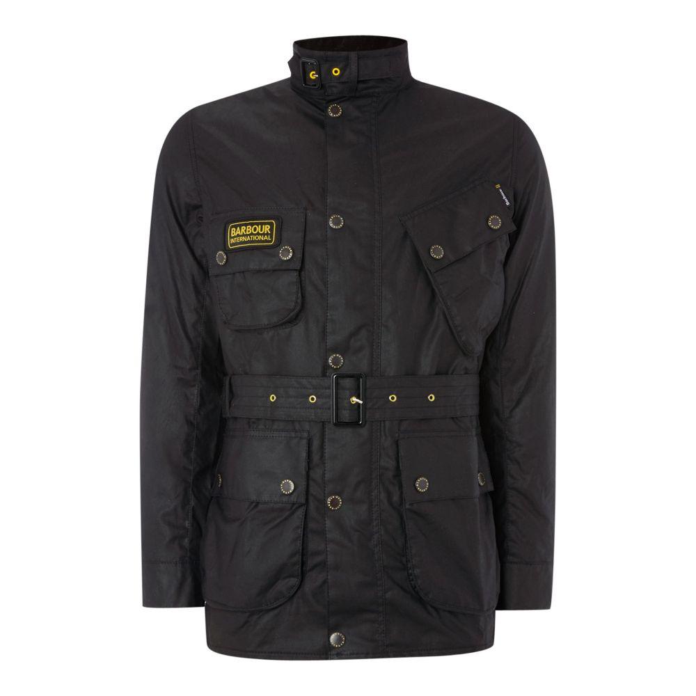 バーブァー メンズ アウター ジャケット【Slim International Wax Jacket】black