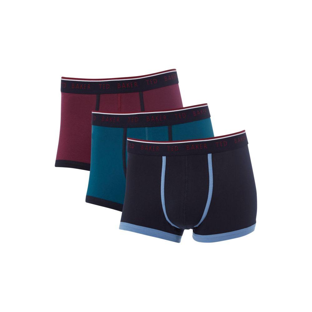 テッドベーカー メンズ インナー・下着 ボクサーパンツ【3pk Plain Contrast Piping Trunk】multi-coloured