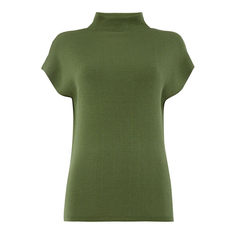マックスマーラ レディース トップス ベスト・ジレ【Sleeveless High Neck Sweater】green