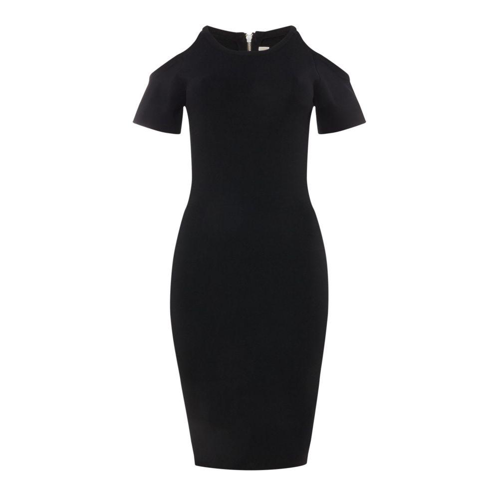 マイケル コース レディース ワンピース・ドレス ワンピース【Solid Cold Shoulder Dress】black