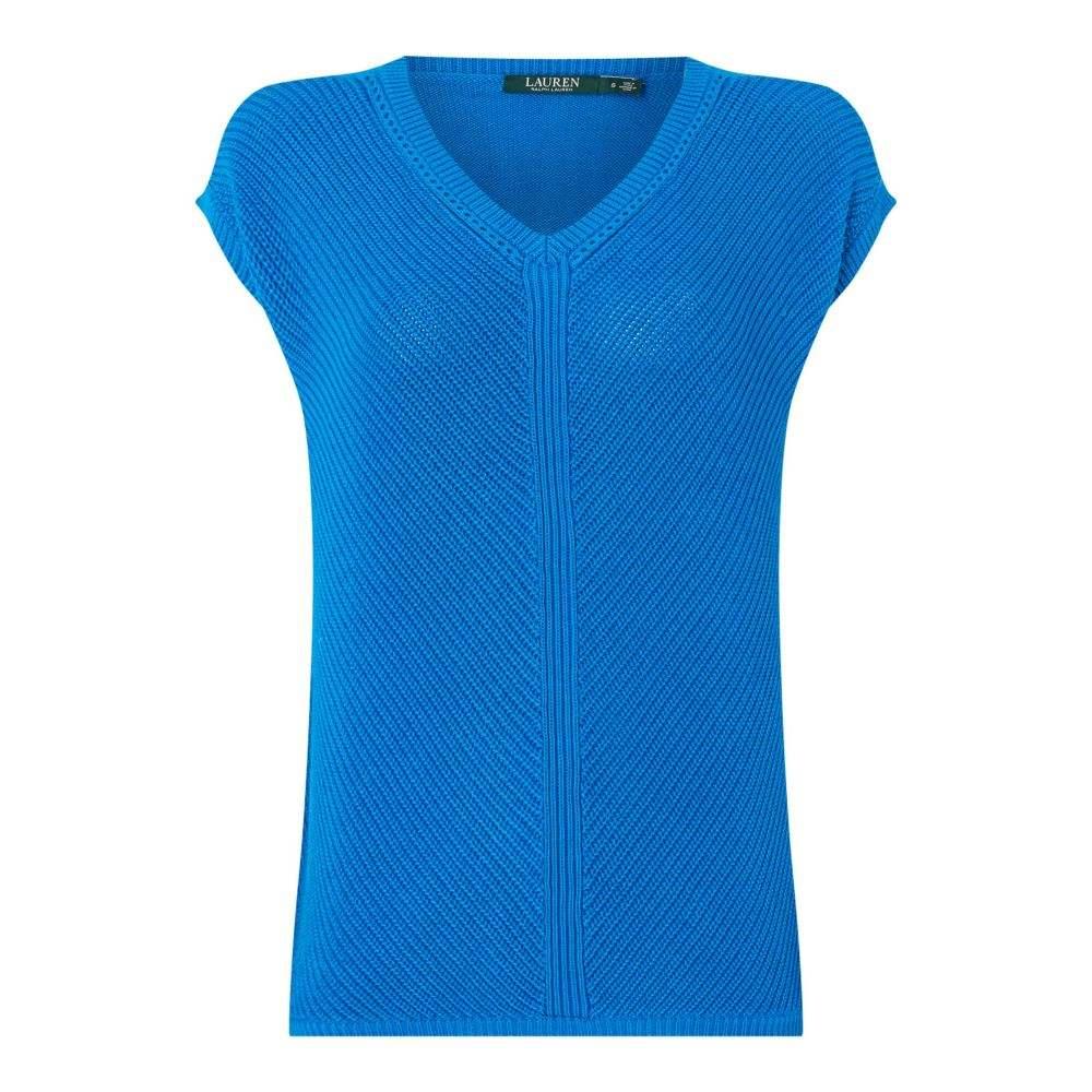 ラルフ ローレン レディース トップス ニット・セーター【Shauna Short Sleeve Sweater】blue