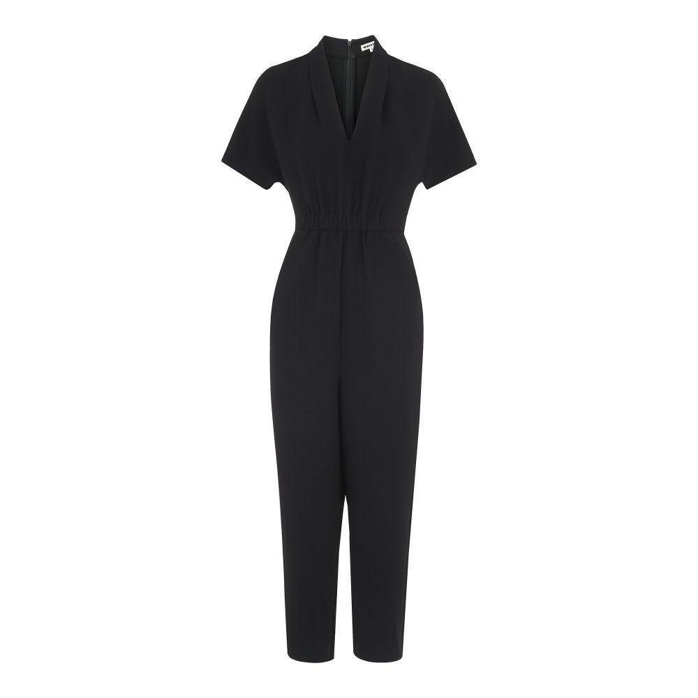 ホイッスルズ レディース ワンピース・ドレス オールインワン Jumpsuit】black【Mercy V V Crepe Neck Crepe Jumpsuit】black, Jewelryメルシィ:b6bb9196 --- jpworks.be