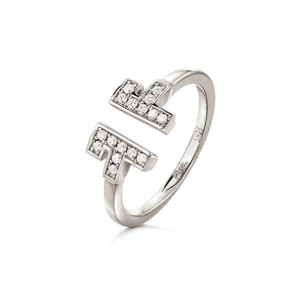フォリフォリ レディース ジュエリー・アクセサリー 指輪・リング【My Ff Open Ring】silver