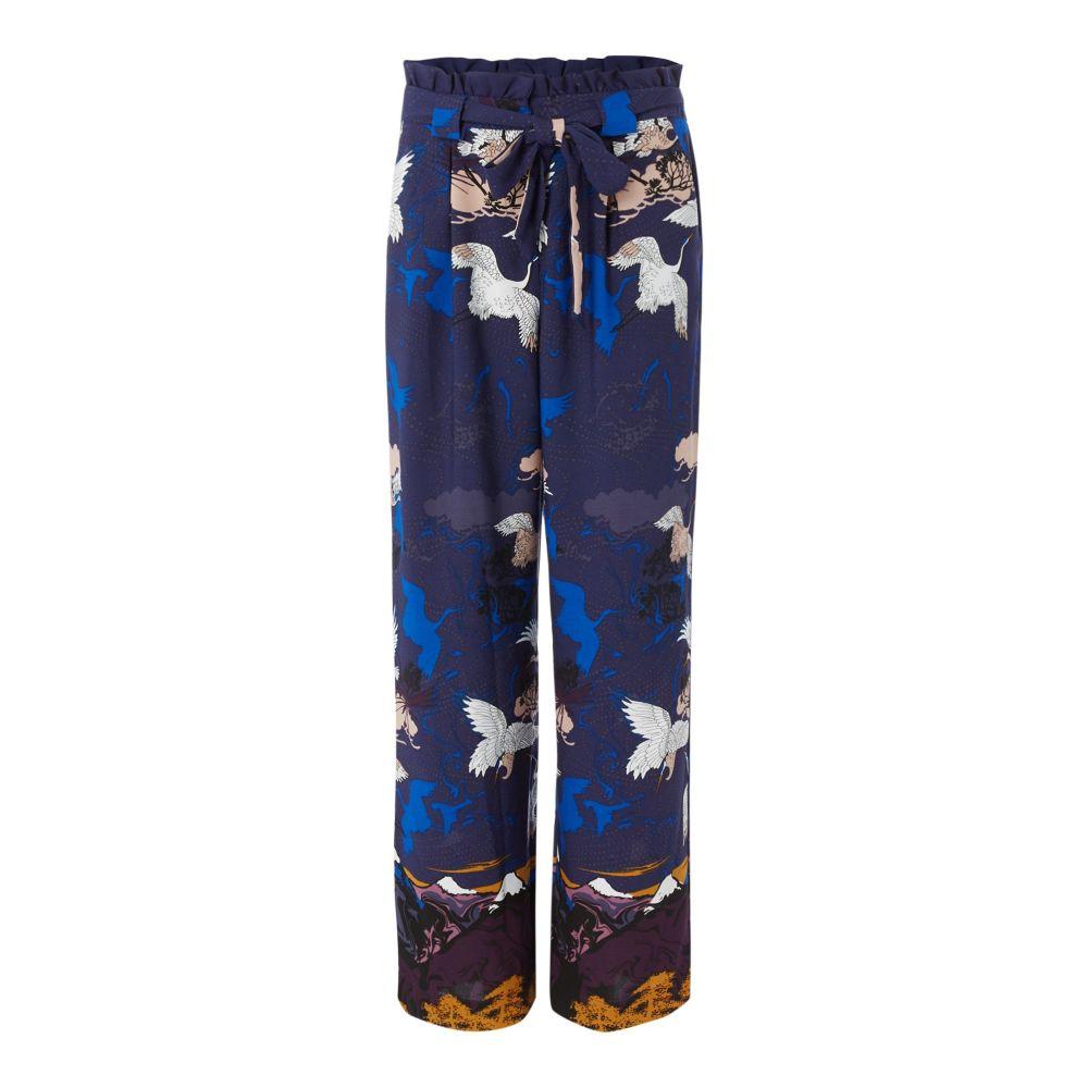 ビバ レディース ボトムス・パンツ【Crane Print Wide Leg Trouser】multi-coloured