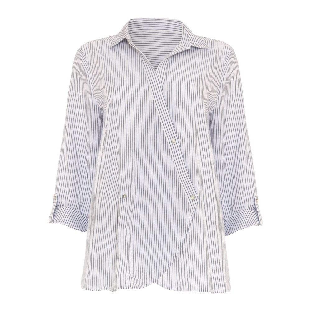 フェーズ エイト レディース トップス ブラウス・シャツ【Gianna Stripe Shirt】blue