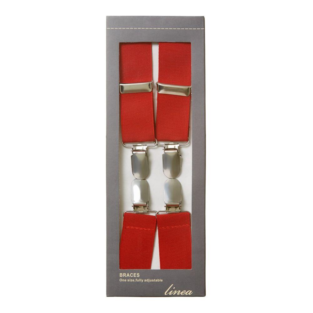 リネアペレ メンズ サスペンダー【Classic Braces】red