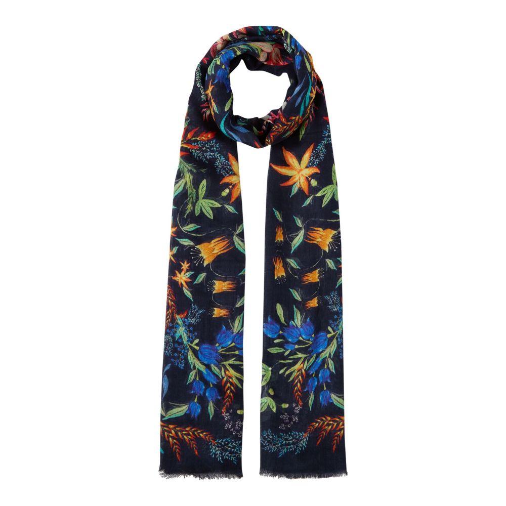リネアペレ レディース マフラー・スカーフ・ストール【Oil Painted Folk Floral】multi-coloured