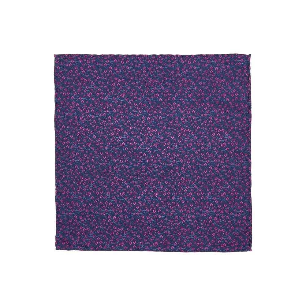ターナー アンド サンダーソン メンズ ハンカチ・チーフ【Dobcross Ditsy Floral Printed Pocket Square】navy