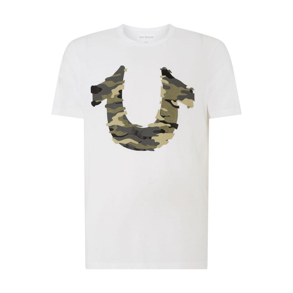 トゥルー レリジョン メンズ トップス Tシャツ【Camo Horseshoe T-shirt】white