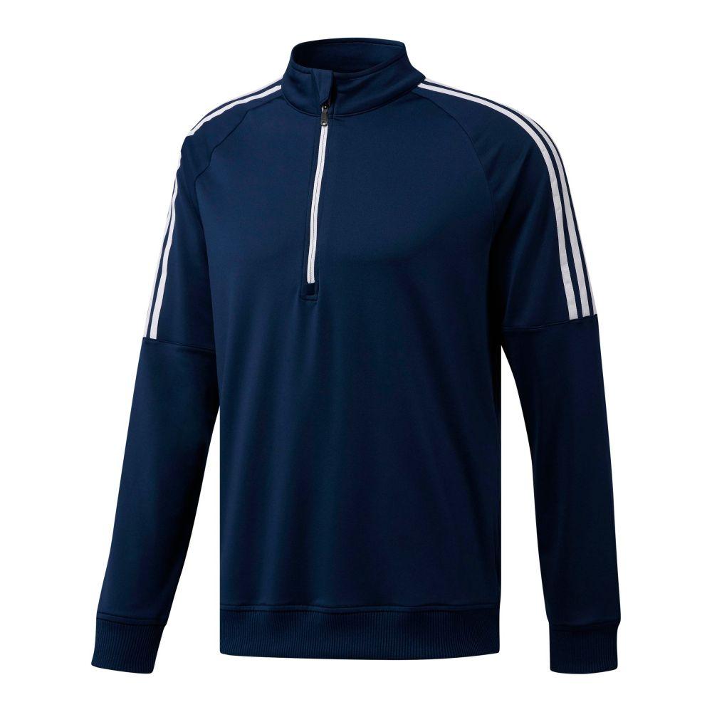 アディダス Adidas メンズ トップス【3-stripes Quarter-zip】navy