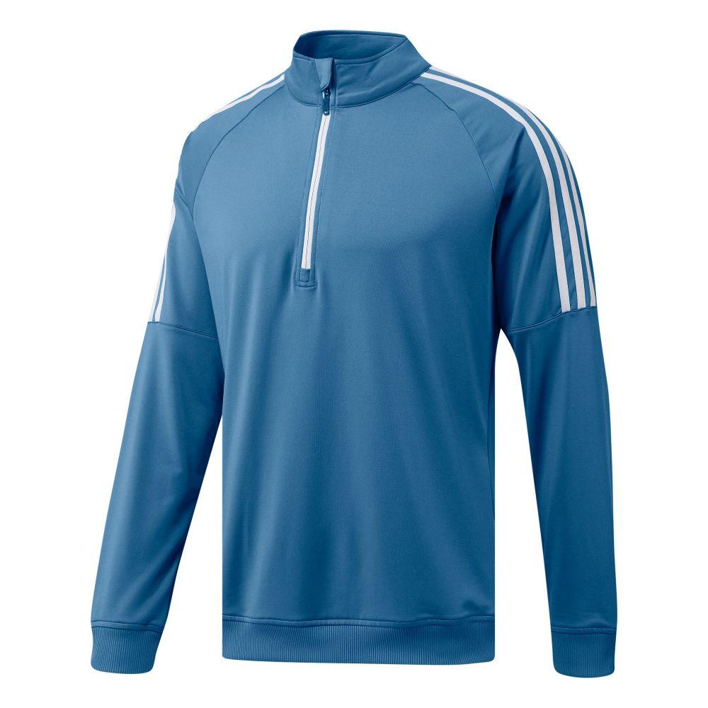 アディダス Adidas メンズ トップス【3-stripes Quarter-zip】royal blue