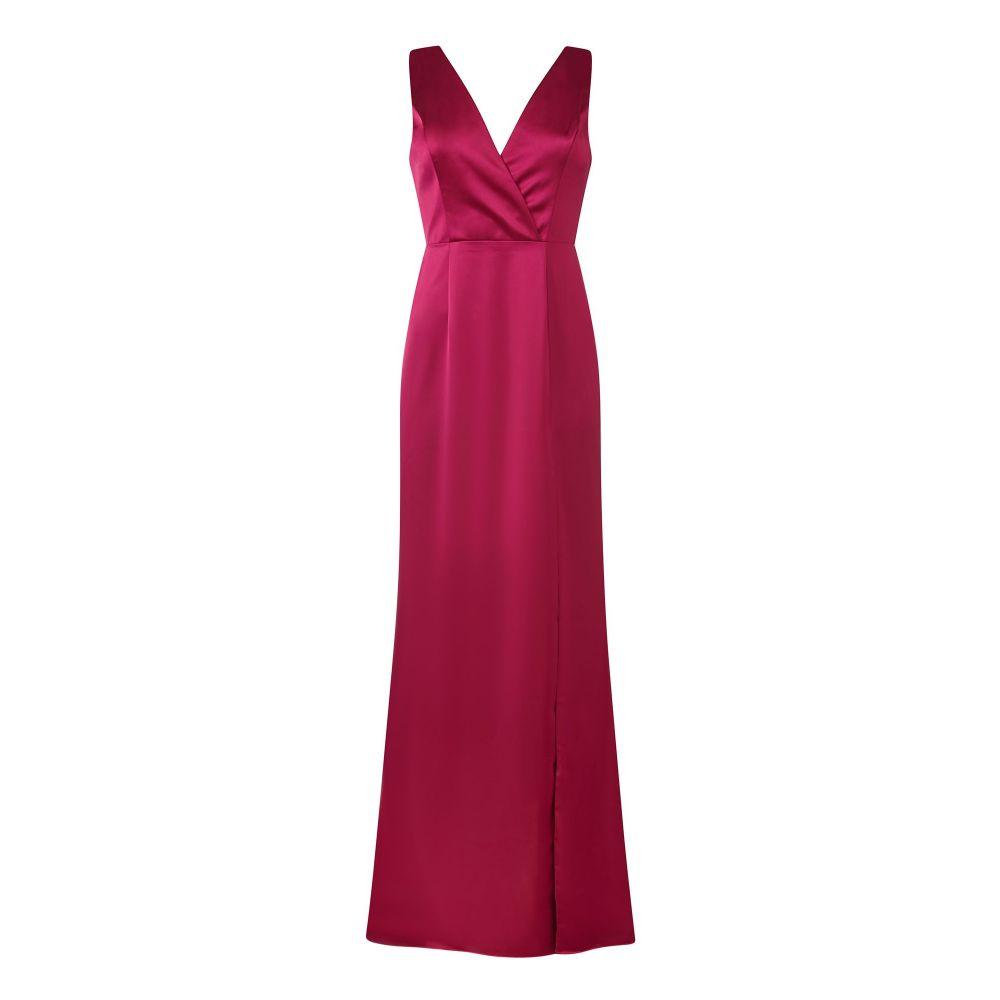 アドリアナ パペル Adrianna Papell レディース ワンピース・ドレス ワンピース【Satin Open Bow Back Dress】purple