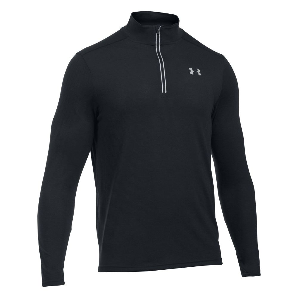 アンダーアーマー Under Armour メンズ トップス【Threadborne Streaker 1/4 Zip Jumper】black