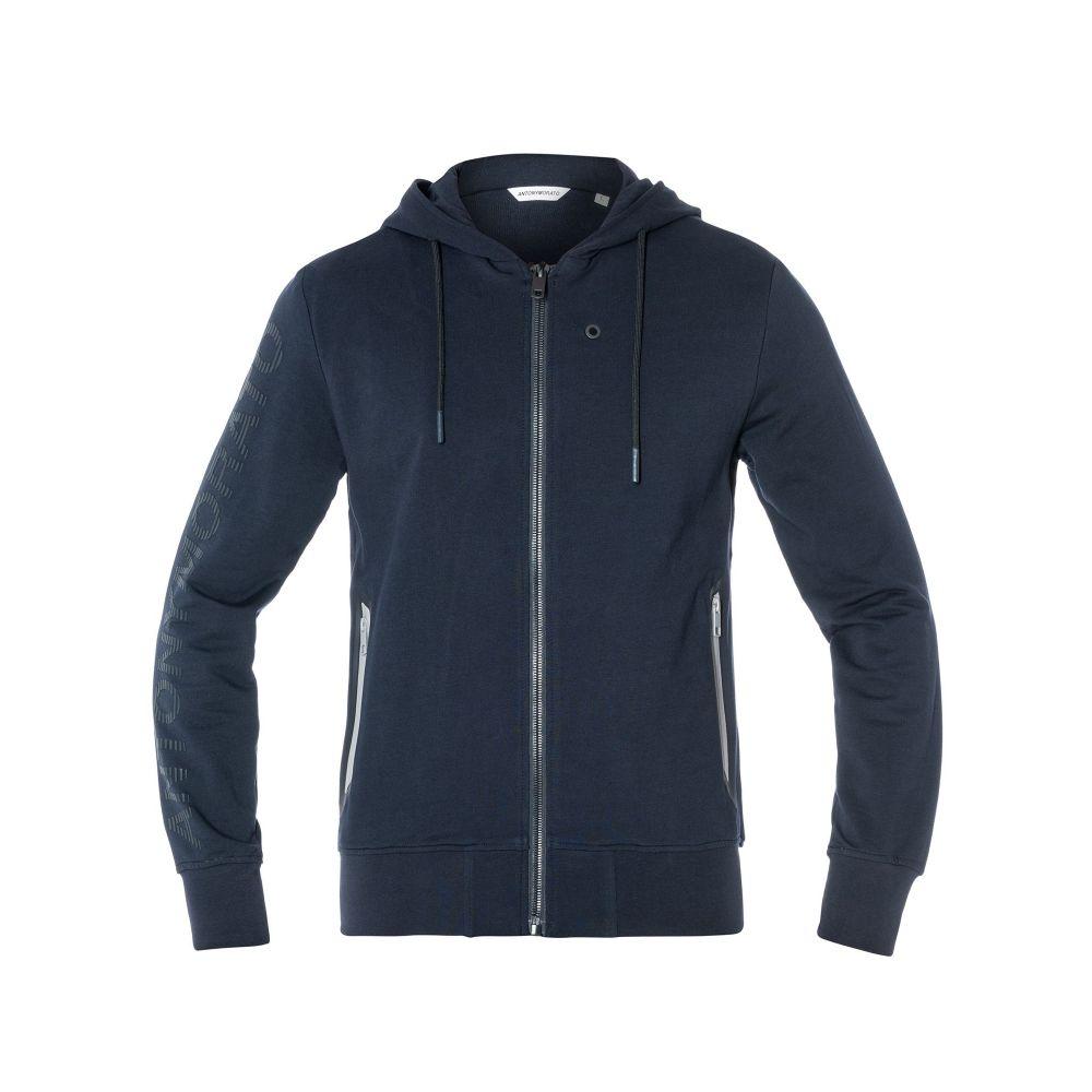 アントニー モラート Antony Morato メンズ トップス フリース【Fleece With Hood And Logo Print On Sleev】navy