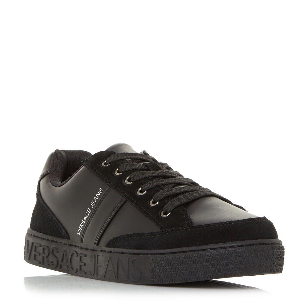 ヴェルサーチ Versace メンズ シューズ・靴 スニーカー【E0ysbsf3 Branded Sole Trainers】black