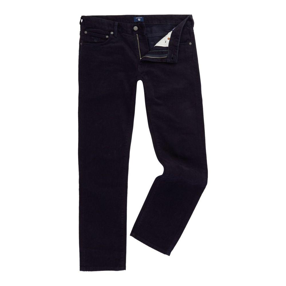 ガント GANT メンズ ボトムス・パンツ【Soft-twill Regular-fit Trousers】navy