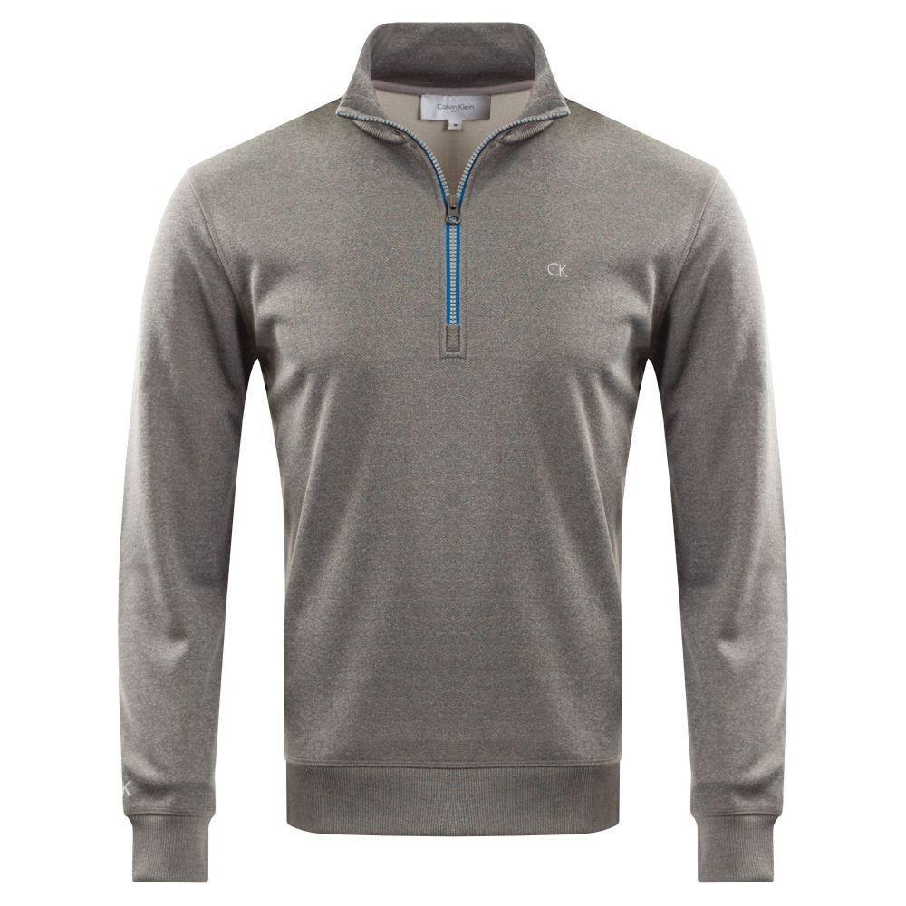 カルバンクライン Calvin Klein Golf メンズ トップス【Challenge Half Zip】grey marl