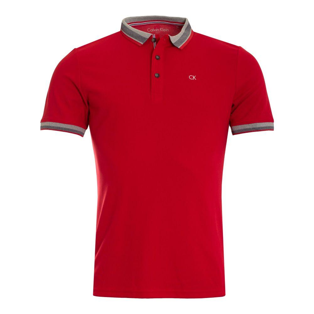 カルバンクライン Calvin Klein Golf メンズ トップス ポロシャツ【Spark Polo】red