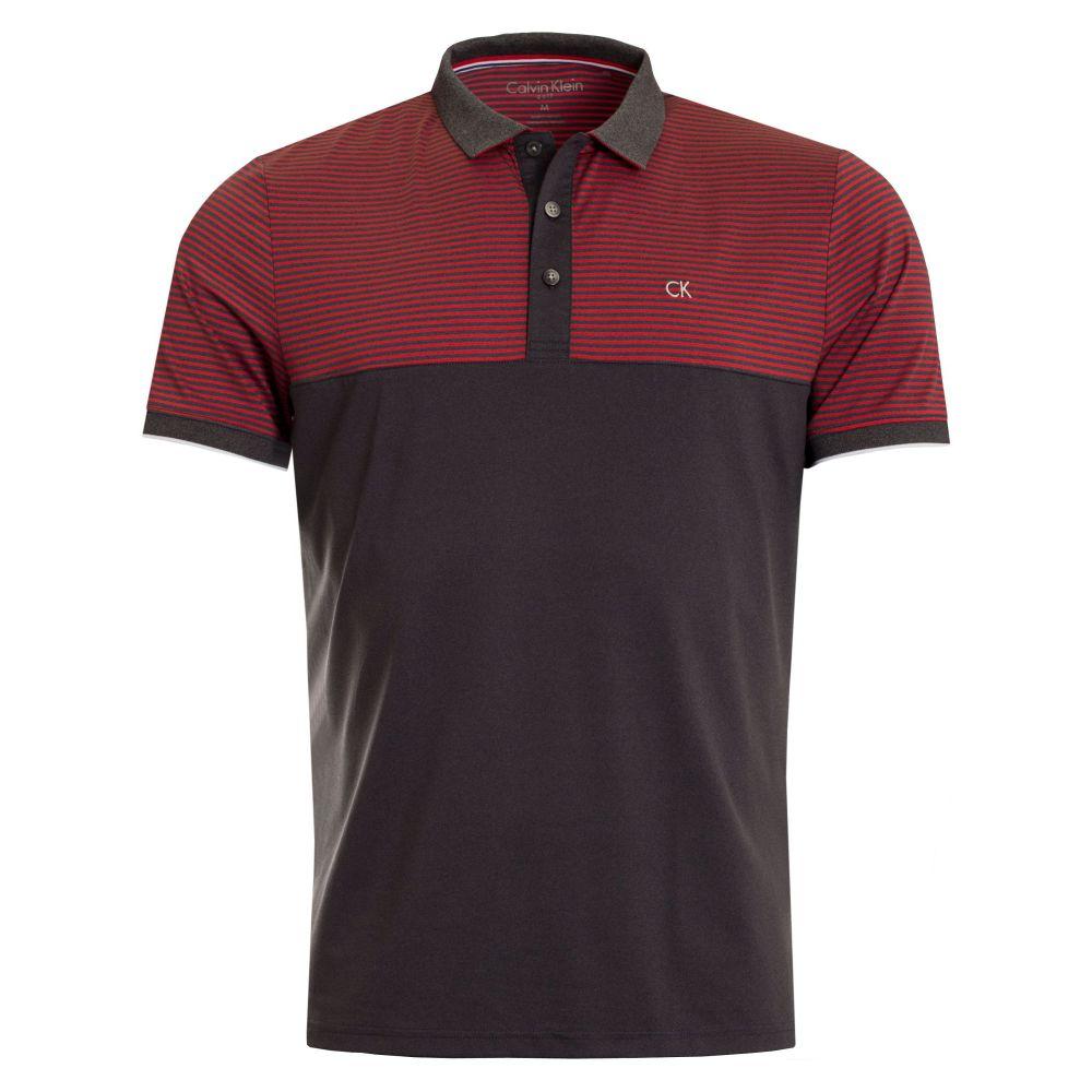 カルバンクライン Calvin Klein Golf メンズ トップス ポロシャツ【Rise Polo】red