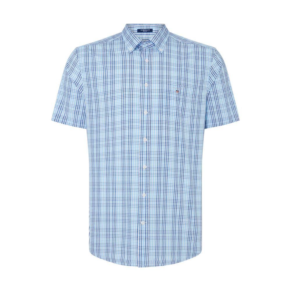 ガント GANT メンズ トップス シャツ【Windowpane Spring Checked Shirt】blue