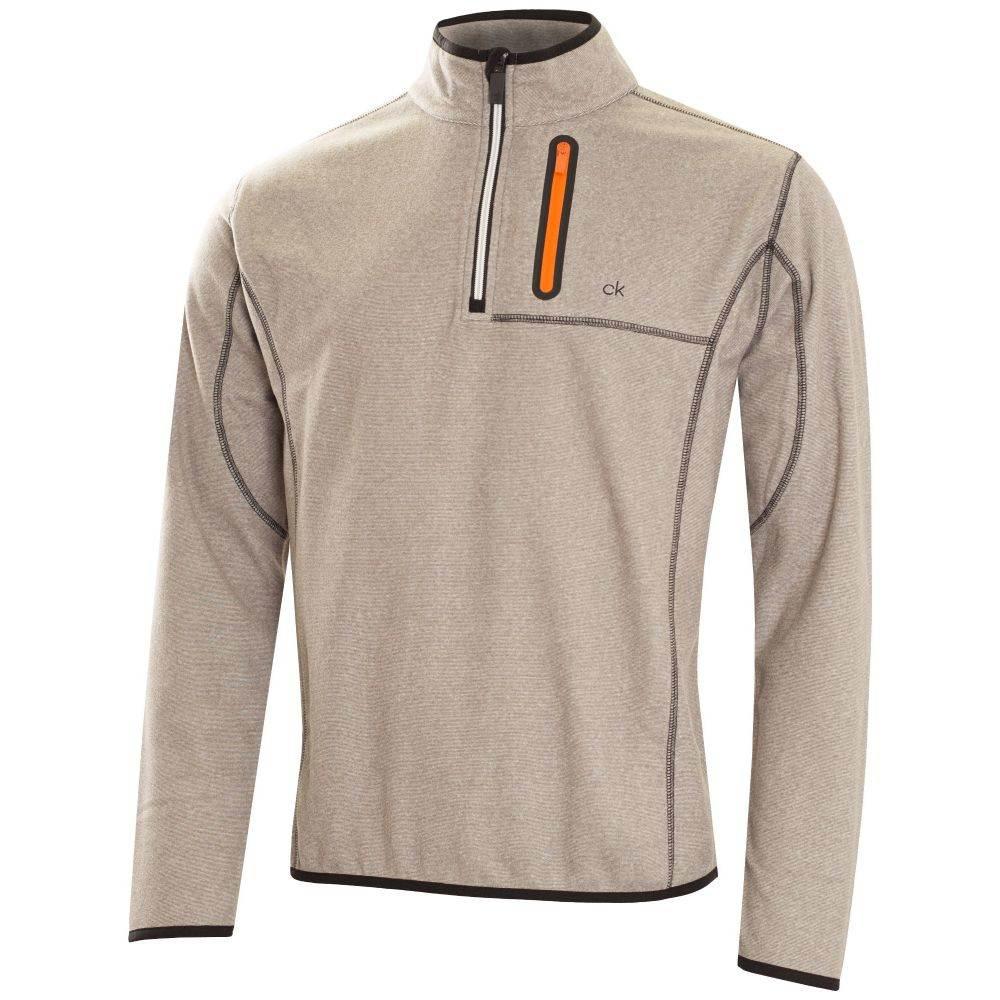 カルバンクライン Calvin Klein Golf メンズ トップス フリース【Swing Performance Fleece】grey marl