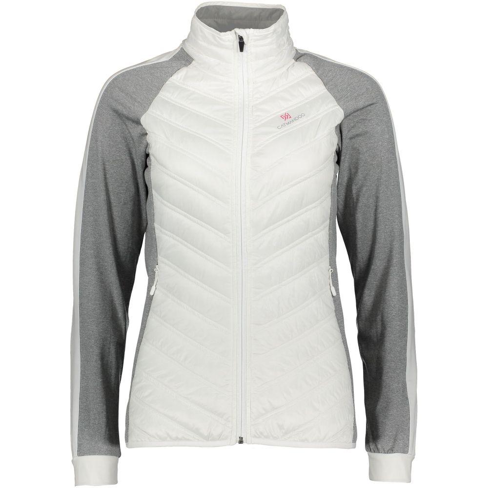 カトマンドゥ Catmandoo レディース ゴルフ アウター【Alloa Hybrid Jacket】white
