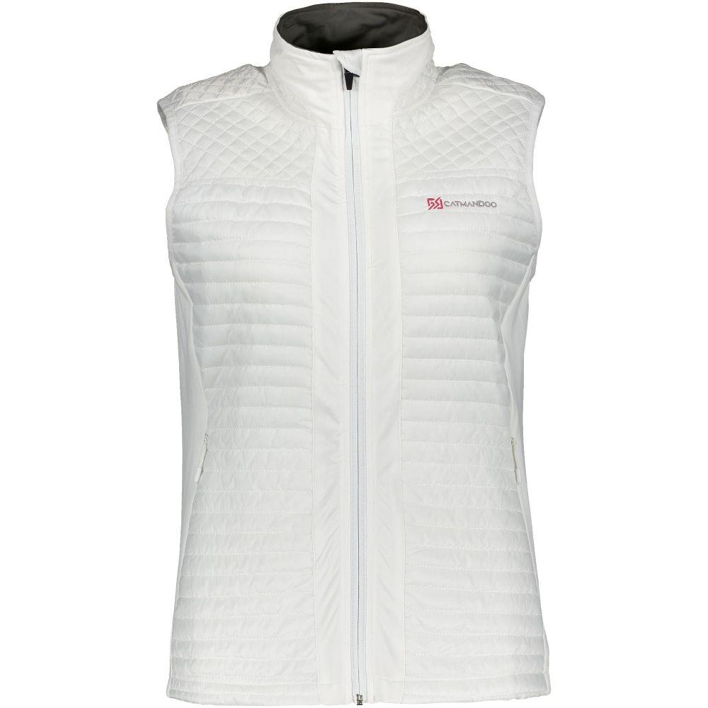 カトマンドゥ Catmandoo レディース ゴルフ トップス【Vaila Hybrid Vest】white